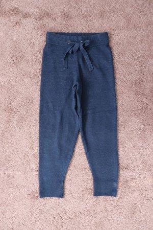 Strick Jogginghose von Zara in Blau Größe S 36 38