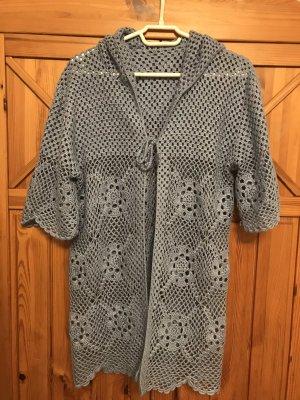 Short Sleeve Knitted Jacket azure