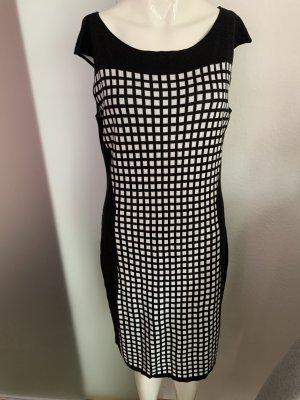 Alba Moda Sukienka z dzianiny czarny-biały