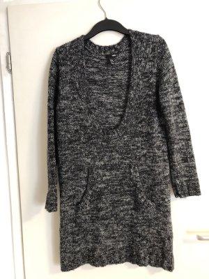 H&M Robe en maille tricotées gris anthracite