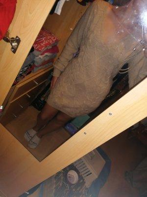 Tally Weijl Robe en maille tricotées marron clair acrylique