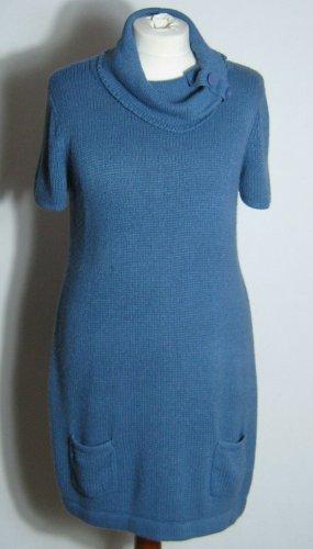 b.p.c. Bonprix Collection Długi sweter bez rękawów stalowy niebieski