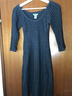 Knitted Dress anthracite angora wool