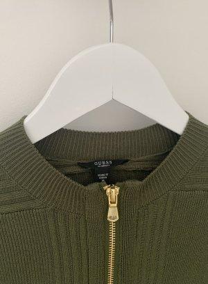 Guess Robe en maille tricotées kaki-doré