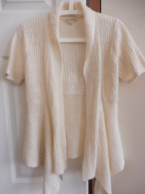 Short Sleeve Knitted Jacket cream