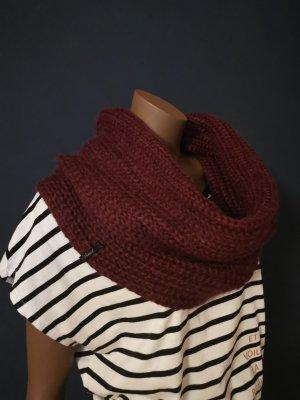Diesel Écharpe en tricot bordeau