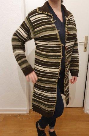Abrigo de punto multicolor tejido mezclado