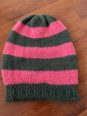 H&M Knitted Hat grey-pink