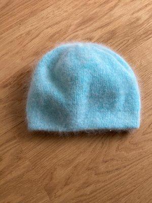 Sombrero de punto azul claro-azul celeste