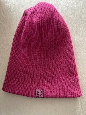 Roxy Sombrero de punto rosa
