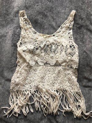 Review Top en maille crochet blanc