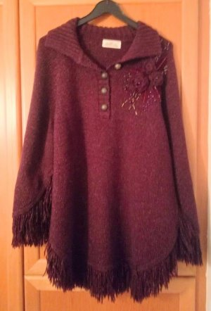 Knitted Poncho bordeaux