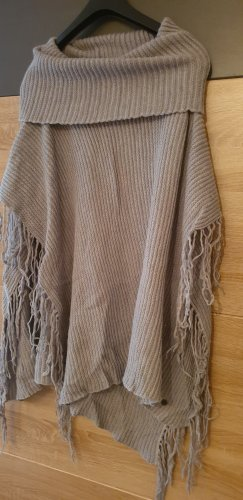 Malvin Knitted Poncho silver-colored