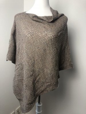 Comma Knitted Poncho light grey-dusky pink