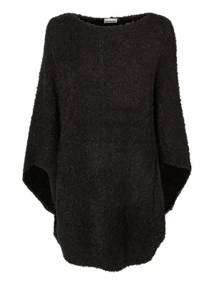 Noisy May Knitted Poncho black polyacrylic