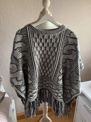 Zara Knitted Poncho multicolored