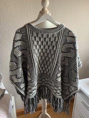 Zara Poncho en tricot multicolore