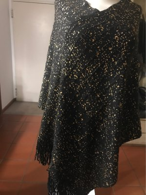 0039 Italy Knitted Bolero black-gold-colored