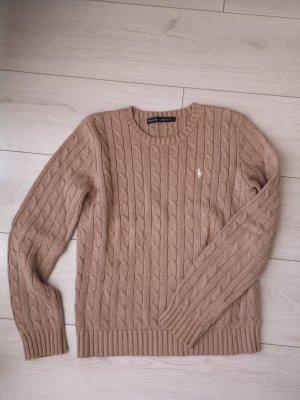 Ralph Lauren Jersey trenzado marrón claro