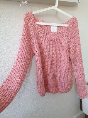 Aygill's Pullover a maglia grossa bianco-rosso chiaro Cotone
