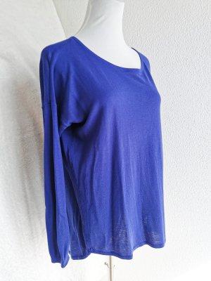 Strick Pullover Baumwolle blau