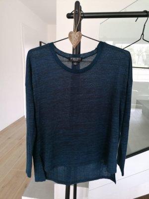 Strick Pullover / blau meliert