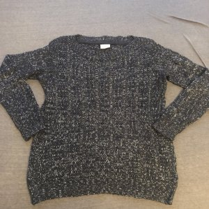 Vero Moda Crochet Sweater black-dark grey