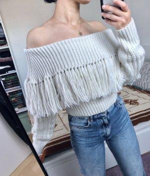 Boohoo Knitted Sweater natural white-cream