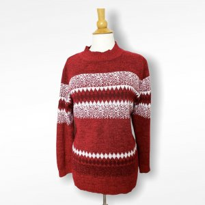 Gler Norwegian Sweater white-carmine