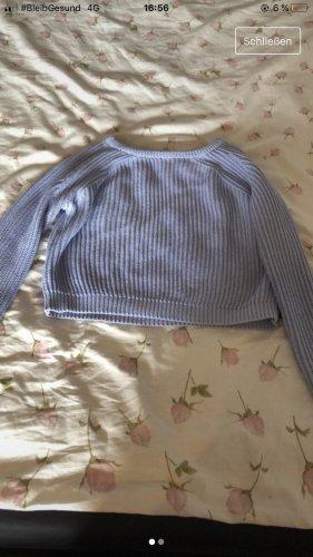Strick Pullover in Blau