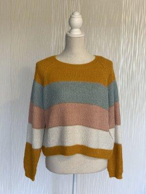 Strick-Pullover in Blockfarben