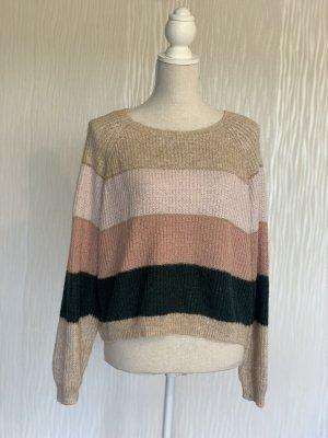 Strick-Pullover in Blockfarben von Only Gr. L NEU