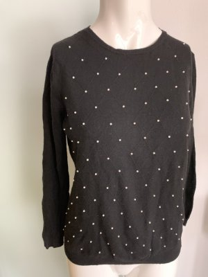 Strick Pullover mit Perlen Gr 36 S von Zara Knitt
