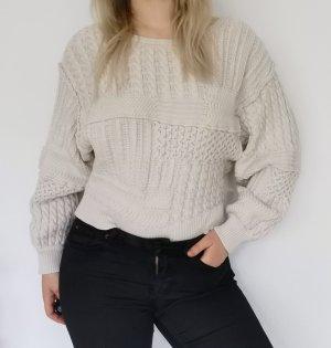 Strick Pullover mit Rückenausschnitt