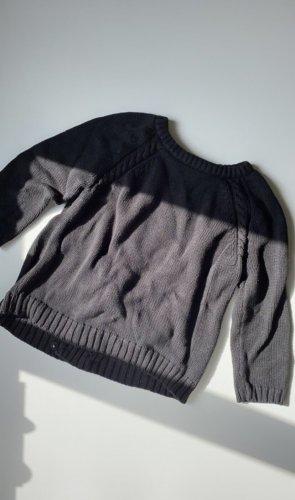 Strick Pullover mit Schlitz am Rücken
