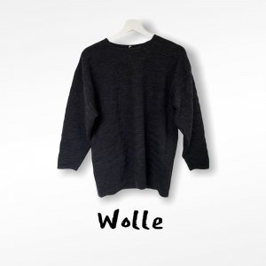 Strick Pullover mit  Wolle Gr S