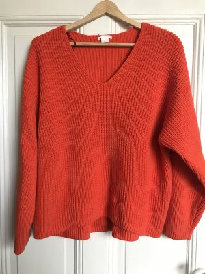 Strick-Pullover orange H&M Trend