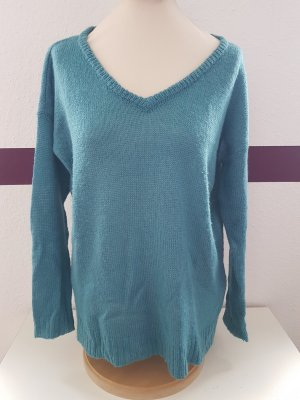 JustFab Knitted Sweater petrol-cadet blue