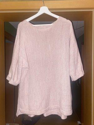 maxi blue. Jersey de ganchillo rosa claro-rosa