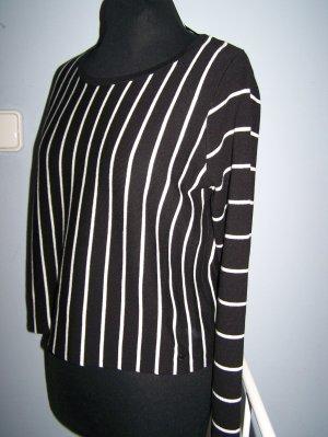Strick Pullover  TAIFUN, Gr. 38,  NEU!!! Farbe: schwarz-weiß, Baumwollmischung