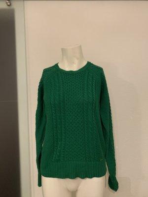 Lindex Jersey trenzado verde Algodón