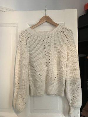 Strick Pullover Weiß Baumwolle H&M Premium XS