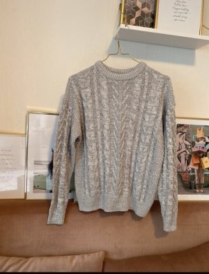Pull & Bear Cable Sweater silver-colored-light grey