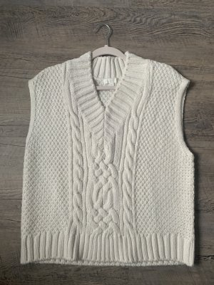 H&M Cardigan à manches courtes blanc cassé