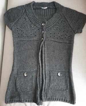 Risskio Długi sweter bez rękawów antracyt