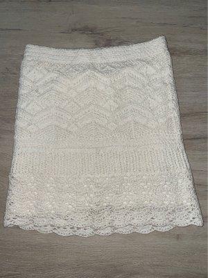 Hollister Jupe tricotée blanc cassé