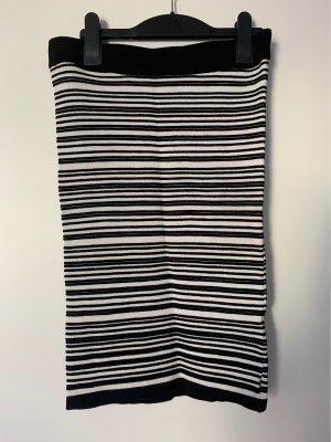 Amisu Falda de punto negro-blanco