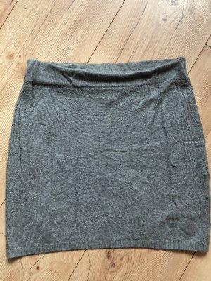 Amisu Jupe tricotée gris-gris clair