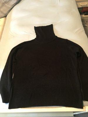 Strick Rollkragenpullover schwarz Größe 48 – selten getragen