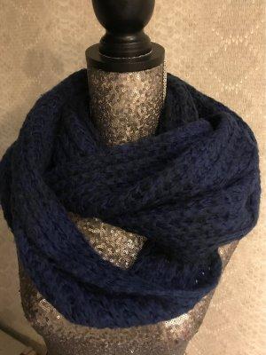 keine Marke Sciarpa lavorata a maglia blu scuro-blu